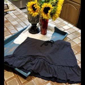 The Loft Brand Ruffled Drawstring Mini Skirt